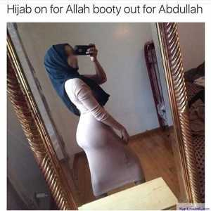 Photo: Girl Slammed For Showing Off Curves In Hijab
